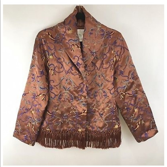 Soft Surroundings Jackets & Blazers - Soft Surroundings Tuscan Copper Jacket Fringe